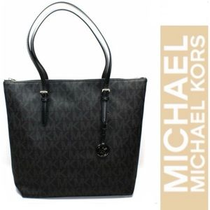 Michael Kors  Jet Set Travel Logo Monogram Tote
